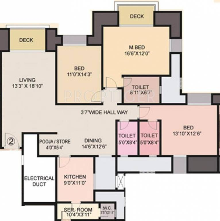 1960 Sq Ft 3 BHK 3T Apartment For Sale In House Of