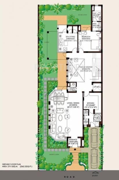 Jaypee Villa (4BHK+6T (5,829 sq ft)   Servant Room 5829 sq ft)