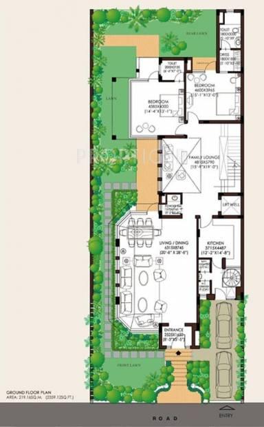 Jaypee Villa (5BHK+7T (5,864 sq ft)   Servant Room 5864 sq ft)