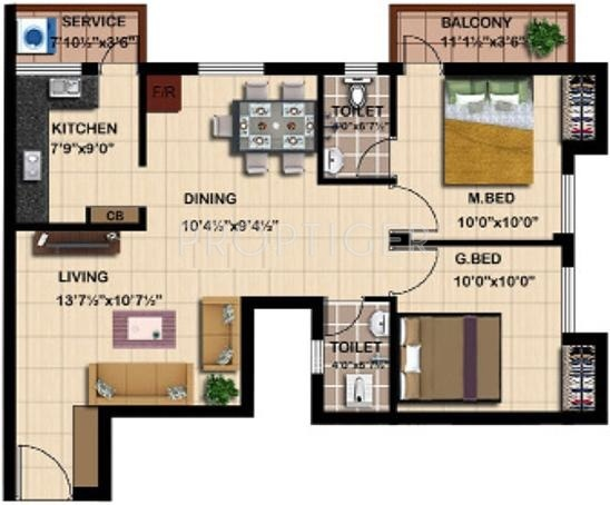 Steps Stone Mahathes (2BHK+2T (1,008 sq ft) 1008 sq ft)