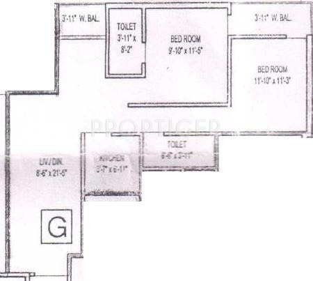950 sq ft 2 bhk 2t apartment for sale in bumba developers for 950 sq ft