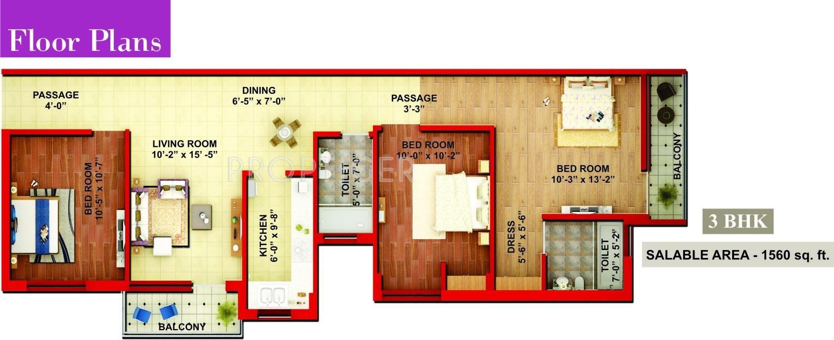 Adwik la casa in crossing republik ghaziabad price for Casa floor