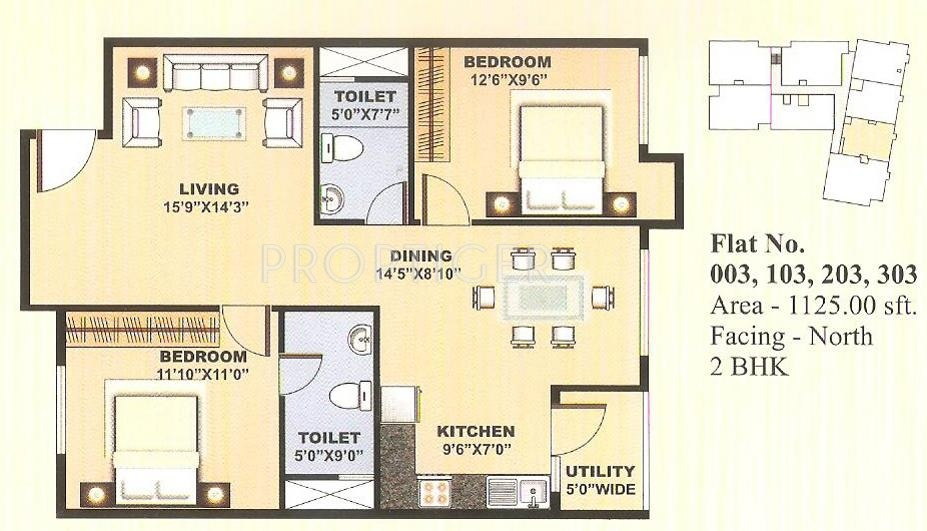 1125 sq ft 2 bhk 2t apartment for sale in slv developers for 1125 sq ft floor plan