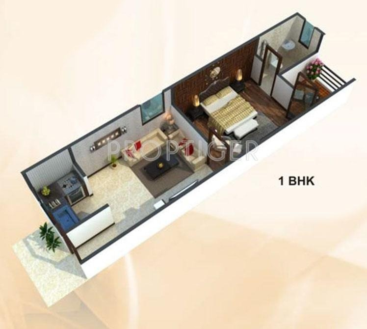 500 Sq Ft 1 Bhk 1t Apartment For Sale In Uday Realcon East Avenue Sector 73 Noida