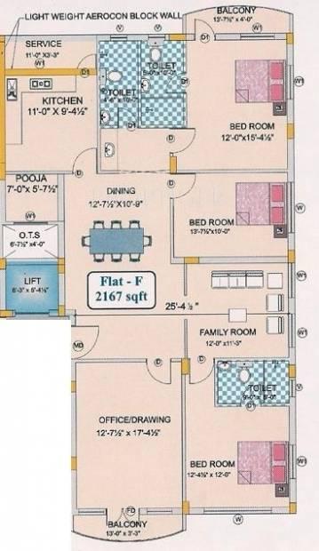BSR Sri Bala Enclave (3BHK+3T (2,167 sq ft)   Pooja Room 2167 sq ft)