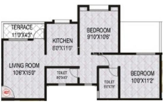 770 Sq Ft 2 Bhk 2t Apartment For Sale In Venus Developers