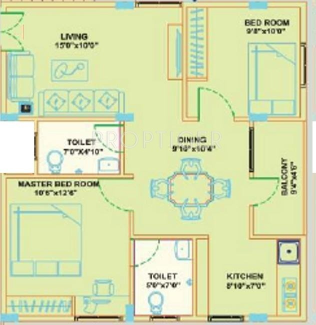 925 Sq Ft 2 Bhk 2t Apartment For Sale In Sri Sri Builders