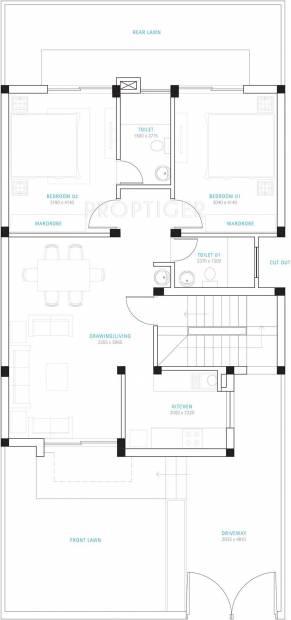 Vatika Ivy Homes (2BHK+2T (1,090 sq ft) 1090 sq ft)