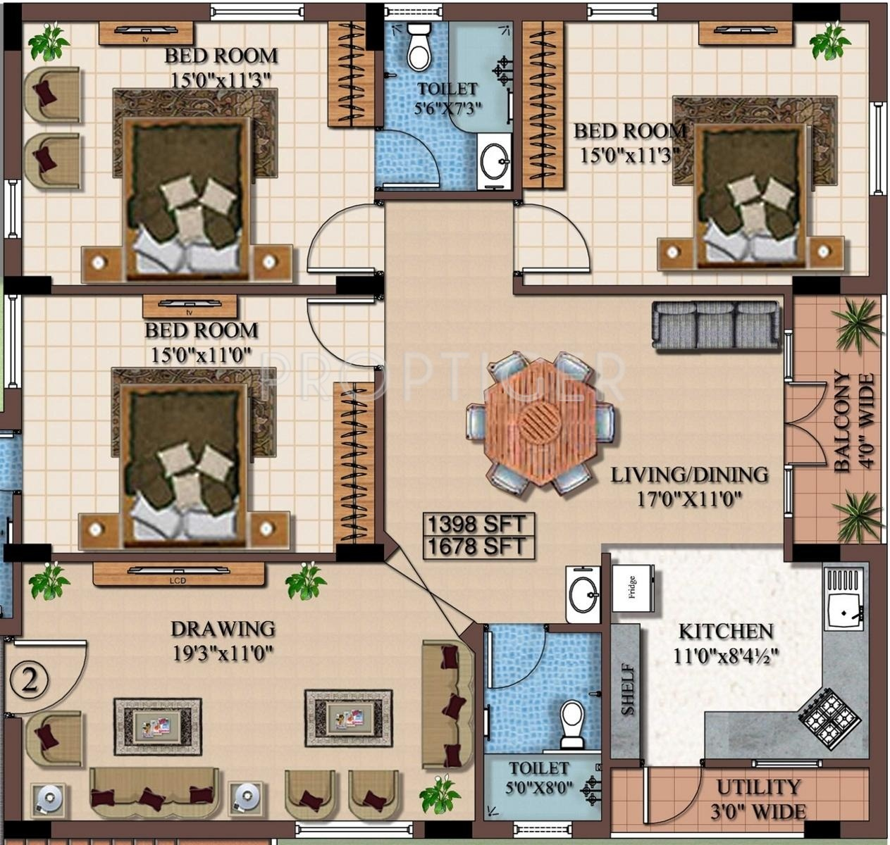 Sq Ft Bhk Apartment For Sale In Maphar Sabz Garden
