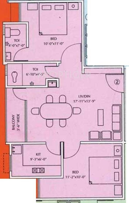 750 Sq Ft 2 Bhk 2t Apartment For Sale In Moghal Moghal