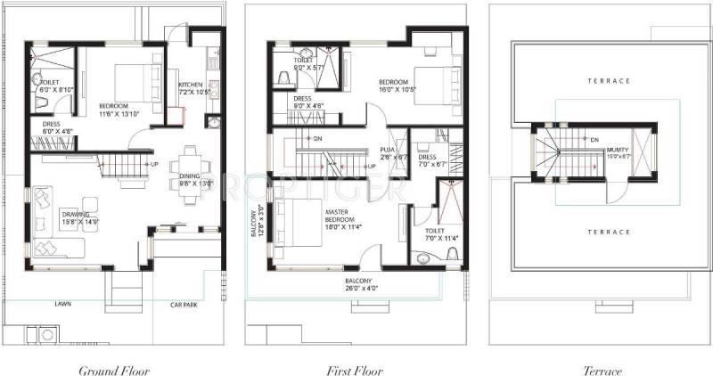Collage Asteria Villas (3BHK+3T (2,141 sq ft) + Pooja Room 2141 sq ft)