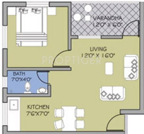 500 sq ft 1 bhk floor plan image goka engineering gold valley apartment available rs 3 076 - 500 sq ft apartment floor plan ...
