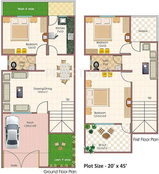 900 Sq Ft 3 Bhk Floor Plan Image Abhinav Homes Tirupati