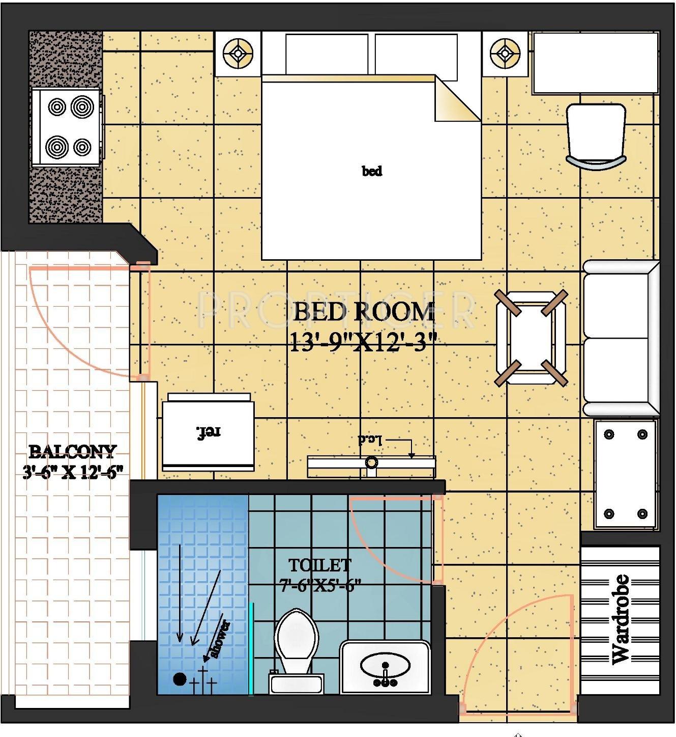 Pushpanjali gopnanda in vrindavan mathura price for 450 sq ft floor plan