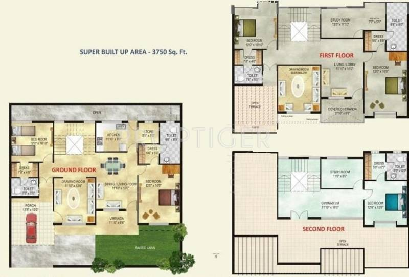Amrit Pebble Bay Phase II (5BHK+5T (3,750 sq ft) + Study Room 3750 sq ft)