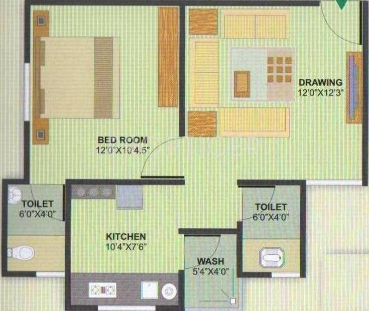 Aman Aman Residency 1 (1BHK+2T (720 sq ft) 720 sq ft)