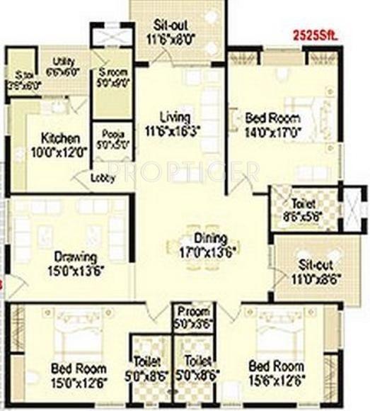2525 Sq Ft 3 Bhk Floor Plan Image Trend Set Trendset