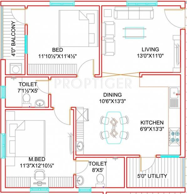 Green City Homes (2BHK+2T (1,200 sq ft) 1200 sq ft)