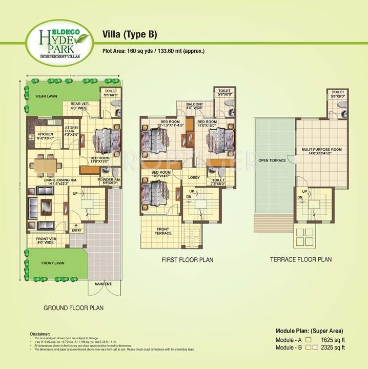 Eldeco hyde park in shahjahanpur neemrana price for Hyde homes floor plans