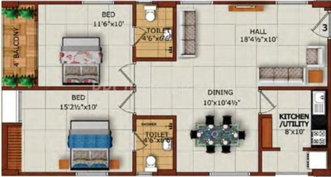 1125 sq ft 2 bhk 2t apartment for sale in sruthika for 1125 sq ft floor plan