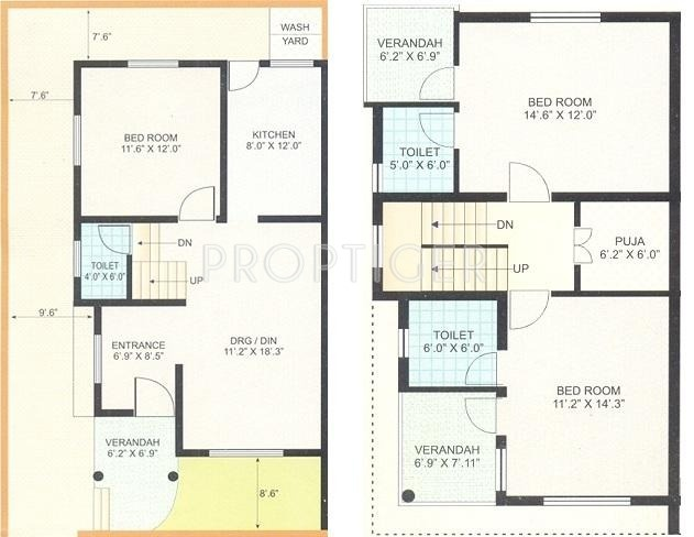 1485 Sq Ft 3 Bhk Floor Plan Image Shayona Land Corporation Twin