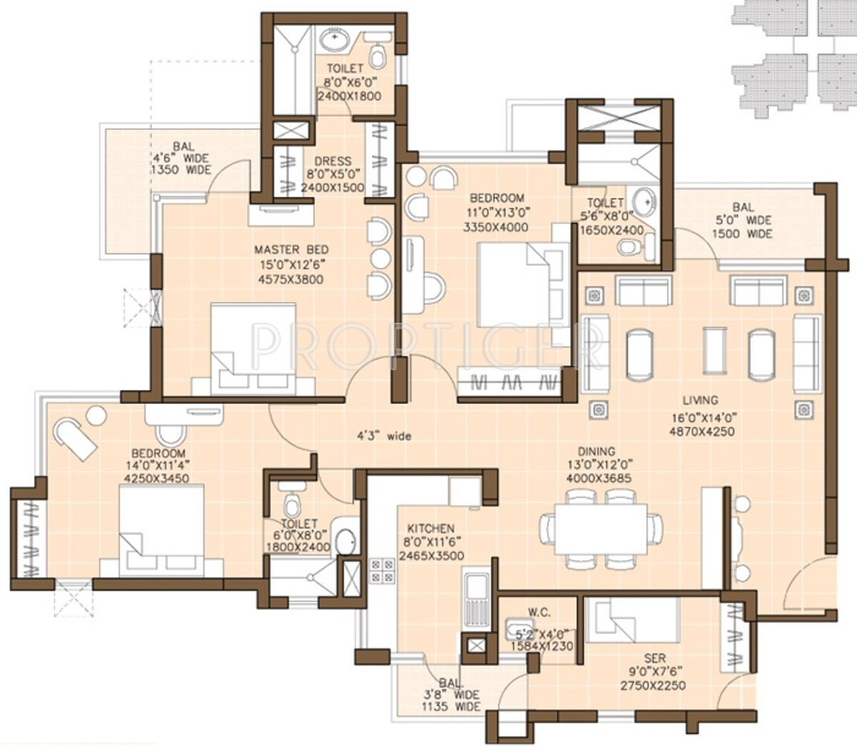 apartment floor plans for 2000 square feet