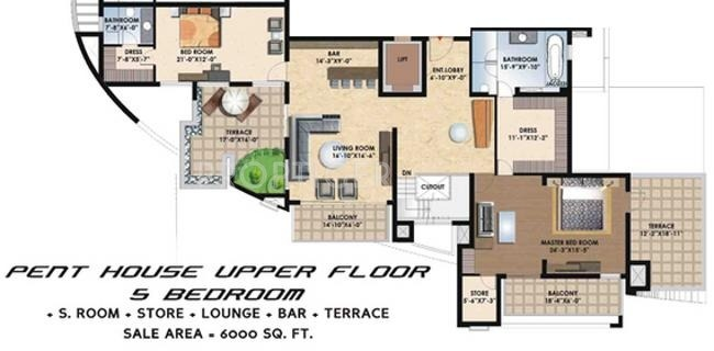 6000 sq ft 5 bhk 5t apartment for sale in suncity projects for 6000 square feet