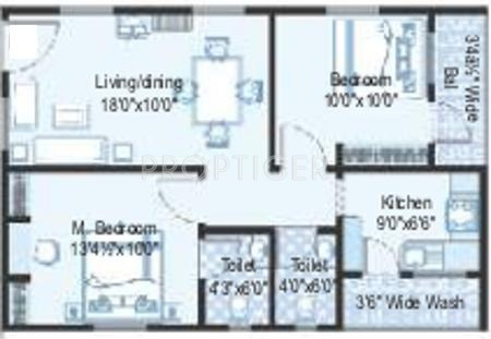 650 sq ft 2 bhk floor plan image vensha estates for 650 square feet floor plan