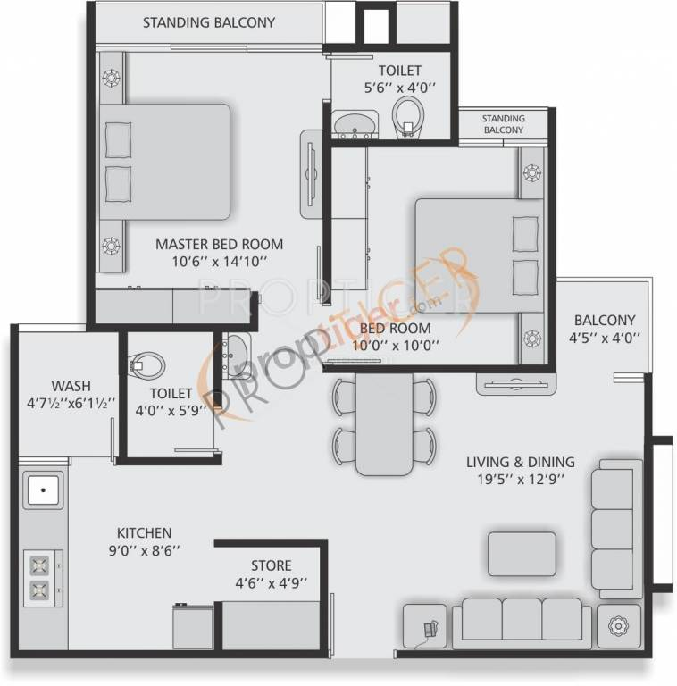 640 sq ft 1 bhk 1t apartment for sale in virat residency for 640 sq ft