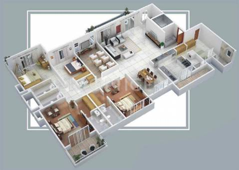 5000 sq ft 4 bhk 5t apartment for sale in anmol nayantara for How much is 5000 square feet
