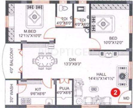 Ssvs builder and developer jk enclave in manikonda for 1125 sq ft floor plan