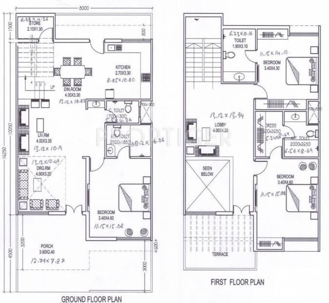 Amrit Pebble Bay Phase II (3BHK+3T (1,398 sq ft) 1398 sq ft)