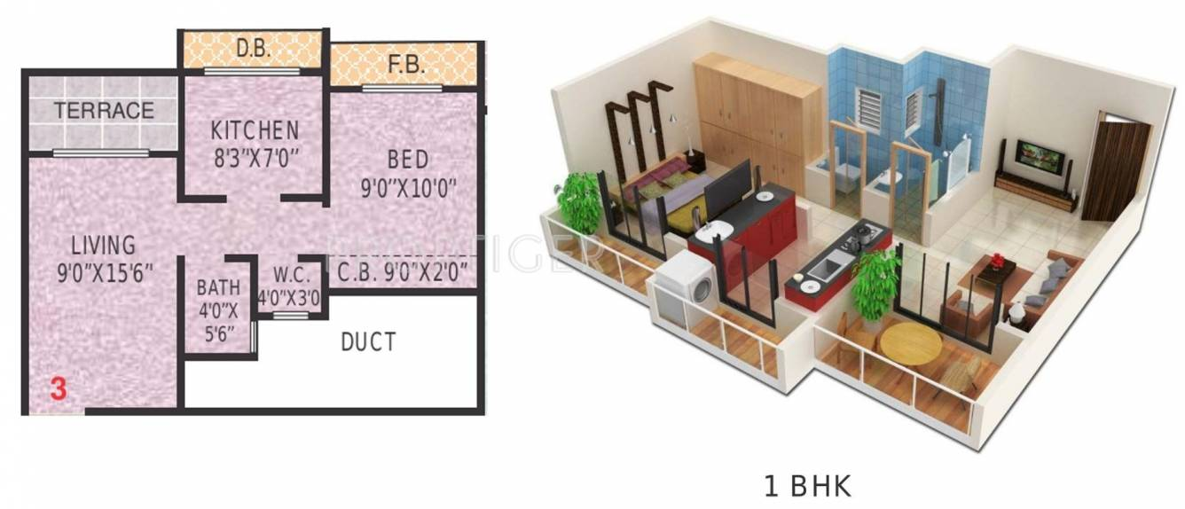 650 Sq Ft 1 Bhk 1t Apartment For Sale In Shree Ganesh