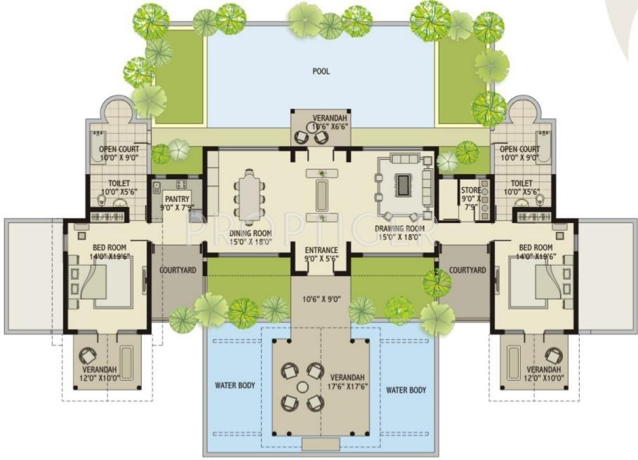 Luxury villa floor plans india for Villa design plan india