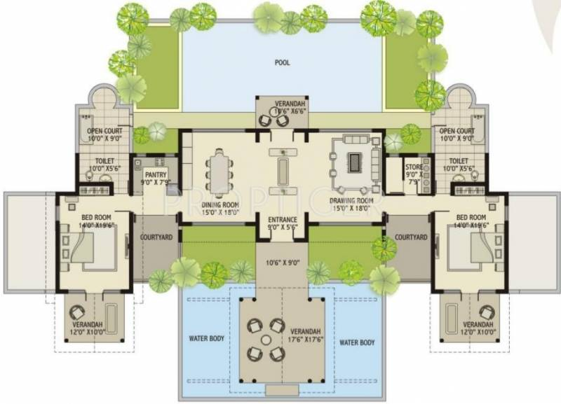 Luxury villa floor plans india Indian villa floor plans