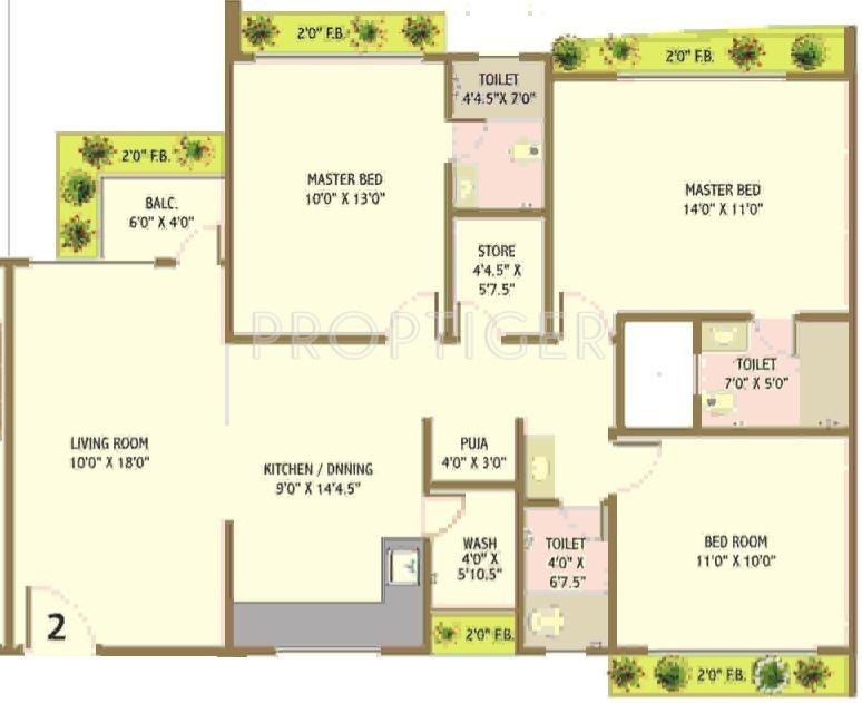 Happy Home Nandanvan Iii In Vesu Surat Price Location Map Floor Plan Amp Reviews Proptiger Com