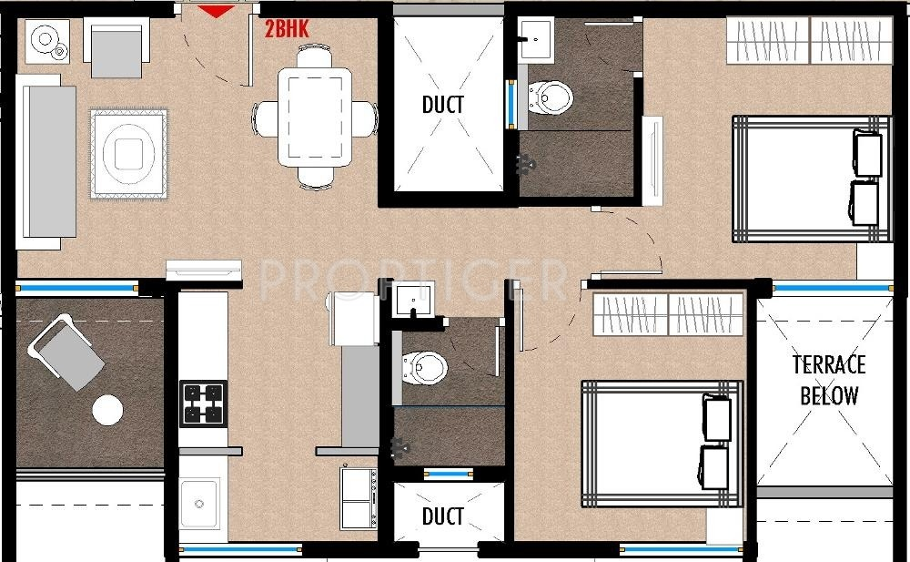 770 Sq Ft 2 Bhk 2t Apartment For Sale In Saarrthi Group