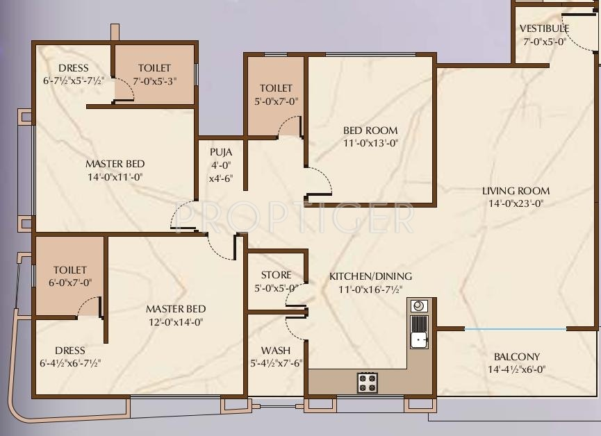 2421 sq ft 3 bhk 3t apartment for sale in happy home group for Apartment plans according to vastu