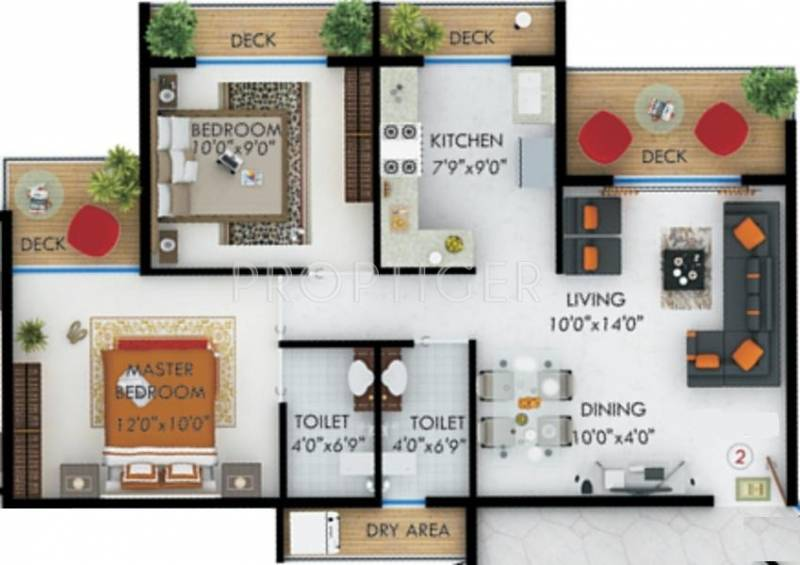 1100 sq ft 2 bhk floor plan image kohinoor royale for 1100 sq ft apartment floor plan