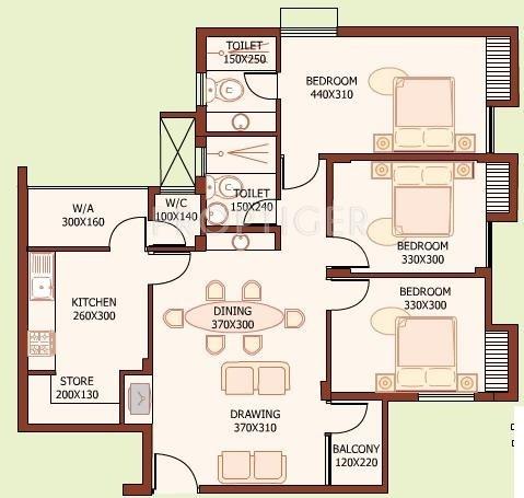 K P Varkey and V S Builders Golden City Nest (3BHK+3T (1,300 sq ft) 1300 sq ft)