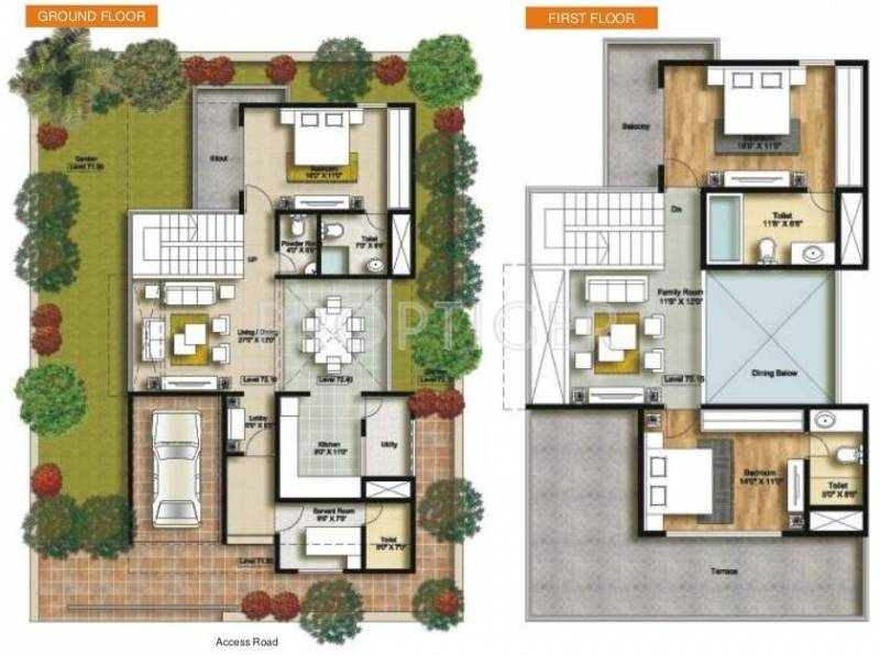 Connect Parkwood (3BHK+3T (2,610 sq ft) + Servant Room 2610 sq ft)