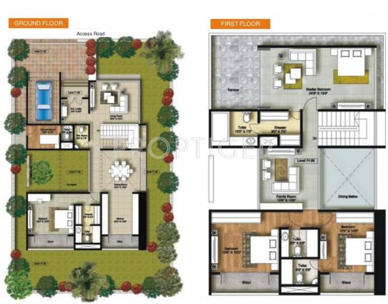 Connect Parkwood (4BHK+4T (3,490 sq ft) + Servant Room 3490 sq ft)