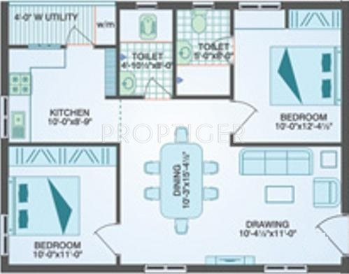 1000 sq ft 2 bhk 2t apartment for sale in muppa homes for 1000 sq ft 2bhk house plans