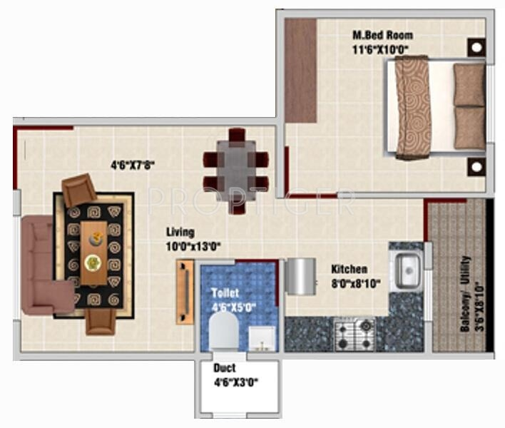 650 Sq Ft 1 Bhk 1t Apartment For Sale In Ds Max
