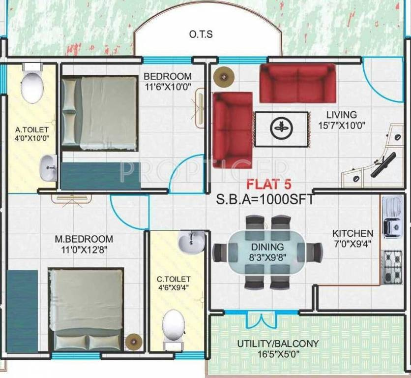 1000 sq ft 2 bhk 2t apartment for sale in hari builders for 1000 sq ft 2bhk house plans