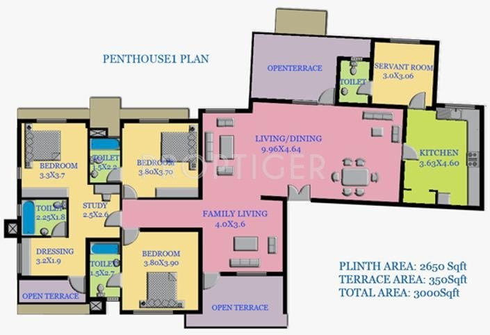 3000 sq ft 3 bhk 3t apartment for sale in galaxy builders for 3000 sq ft apartment floor plan