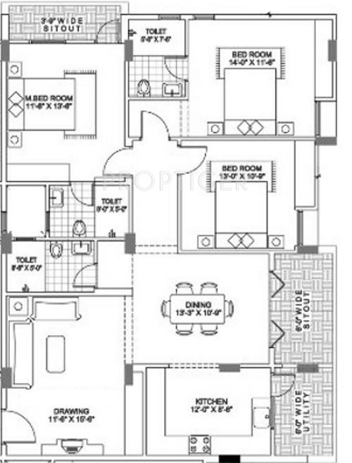 1720 sq ft 3 bhk 3t apartment for sale in aesthetic for Aesthetic house design