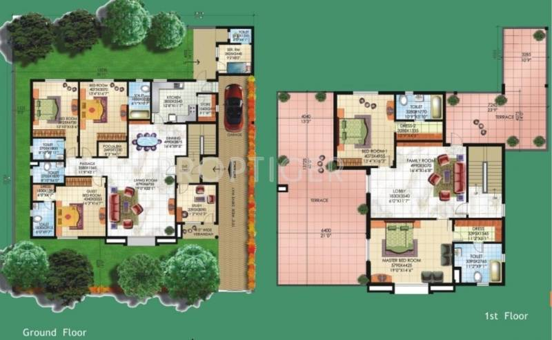 5000 Sq Ft 5 Bhk Floor Plan Image Sahara City Homes