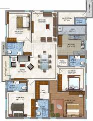 3333 Sq Ft 4 Bhk 4t Apartment For Sale In Dsr Builders And