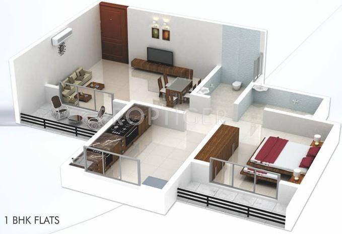 700 sq ft 1 bhk 1t apartment for sale in patel rpl jainam
